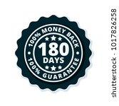 180 days money back illustration | Shutterstock .eps vector #1017826258