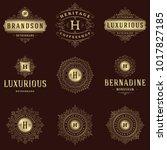 luxury logos templates set ...   Shutterstock .eps vector #1017827185