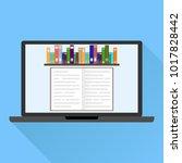 online training  online library.... | Shutterstock .eps vector #1017828442