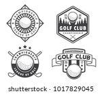 modern black and white golf... | Shutterstock .eps vector #1017829045