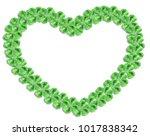 green cloverleaf vector frame.... | Shutterstock .eps vector #1017838342