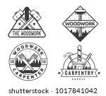 vintage monotone woodwork...   Shutterstock .eps vector #1017841042