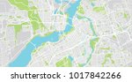 urban vector city map of ottawa ... | Shutterstock .eps vector #1017842266