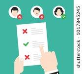 resume  cv. find person for job ... | Shutterstock .eps vector #1017845245