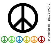 peace sign for websites and... | Shutterstock .eps vector #1017849142