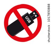 do not use usb pendrive stick... | Shutterstock .eps vector #1017850888