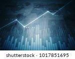 2d rendering stock market... | Shutterstock . vector #1017851695