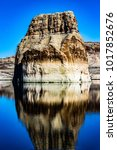 lone rock beach lake powell in... | Shutterstock . vector #1017852676