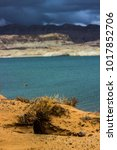 lone rock beach lake powell in... | Shutterstock . vector #1017852706