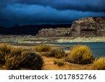 lone rock beach lake powell in... | Shutterstock . vector #1017852766