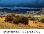 lone rock beach lake powell in... | Shutterstock . vector #1017852772