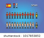 spain football team uniforms... | Shutterstock .eps vector #1017853852