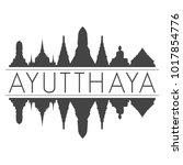 ayutthaya thailand skyline...   Shutterstock .eps vector #1017854776