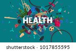 motivation card for social... | Shutterstock . vector #1017855595