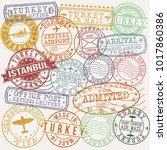 istanbul turkey stamp vector... | Shutterstock .eps vector #1017860386