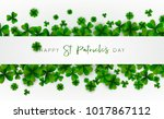 happy saint patrick's day... | Shutterstock .eps vector #1017867112
