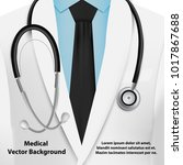 medical background with doctor... | Shutterstock .eps vector #1017867688