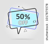 special offer sale geometric... | Shutterstock .eps vector #1017875578