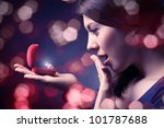 jewel in the open case and... | Shutterstock . vector #101787688