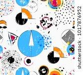 seamless geometric pattern... | Shutterstock .eps vector #1017876952
