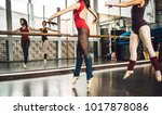 young slim ballet dancer... | Shutterstock . vector #1017878086