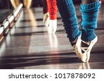 crop shot of ballet dancers on... | Shutterstock . vector #1017878092