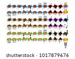 set of top view people ... | Shutterstock .eps vector #1017879676