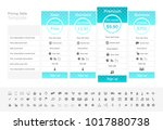 pricing table with 4 plans with ...   Shutterstock .eps vector #1017880738