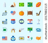 icons about united states with... | Shutterstock .eps vector #1017882115