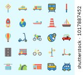 icons about transportation with ... | Shutterstock .eps vector #1017887452