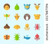 icons about animals with deer ... | Shutterstock .eps vector #1017887596