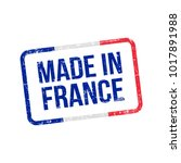 made in france. vector flag... | Shutterstock .eps vector #1017891988