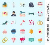 icons about wedding with... | Shutterstock .eps vector #1017894262