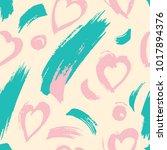 dry brush strokes   seamless... | Shutterstock .eps vector #1017894376