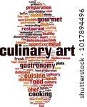 culinary art word cloud concept....   Shutterstock .eps vector #1017894496