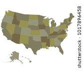 map of usa   Shutterstock .eps vector #1017896458
