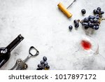 wine set on white background... | Shutterstock . vector #1017897172