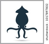 squid simple icon | Shutterstock .eps vector #1017897832