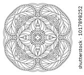 vector template mandala for... | Shutterstock .eps vector #1017898252