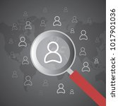 crm   customer relationship... | Shutterstock .eps vector #1017901036