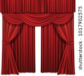 red stage curtain realistic... | Shutterstock .eps vector #1017902575
