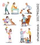 vector set of professional vet... | Shutterstock .eps vector #1017902602