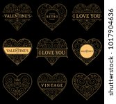 set of heart vintage templates. ... | Shutterstock .eps vector #1017904636