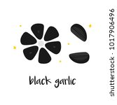 doodle  hand drawn black garlic ... | Shutterstock .eps vector #1017906496