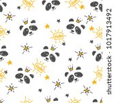 seamless pattern hand drawn... | Shutterstock .eps vector #1017913492