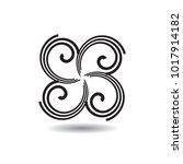 simple logo design. vector... | Shutterstock .eps vector #1017914182