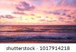 sunset and beach beautiful... | Shutterstock . vector #1017914218