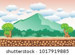 nature background for game ... | Shutterstock .eps vector #1017919885