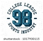 college sports graphic   Shutterstock .eps vector #1017930115