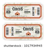 circus tickets front and back...   Shutterstock .eps vector #1017934945